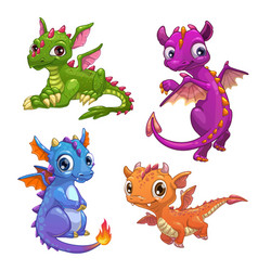 little dragons set vector image vector image