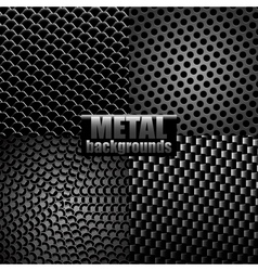 Metal backgrounds vector image vector image