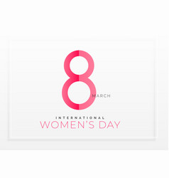 Minimal clean happy womens day background vector