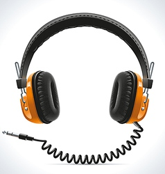 Old Headphones vector image