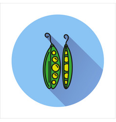 peas simple icon on white background vector image