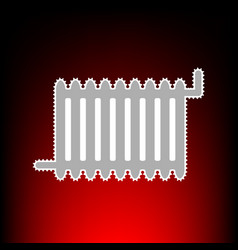 Radiator sign postage stamp or old photo style on vector
