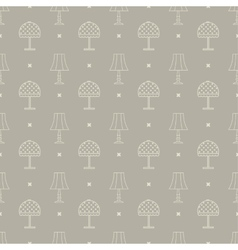 Reading lamps pattern vector
