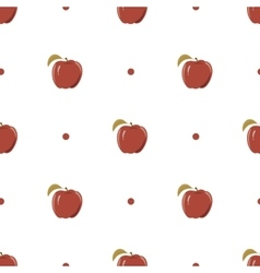 Seamless texture with a pattern of red apples vector image vector image