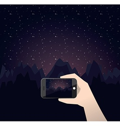travel photo night in mountains vector image vector image