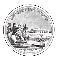 Washingtons congressional gold medal back vintage vector
