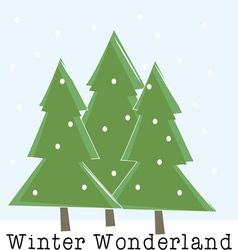 Winter wonderland vector
