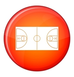 Basketball field icon flat style vector