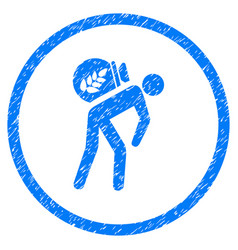 Harvest porter rounded grainy icon vector