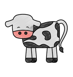 Cute cow manger character vector