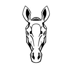 Horse head stylization vector
