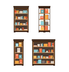 Home library with books vector