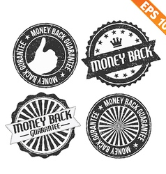 Stamp sticker money back collection - - eps vector