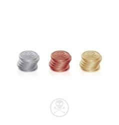 Pirate coins one column vector