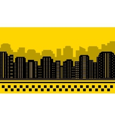 Yellow backdrop for city taxi vector