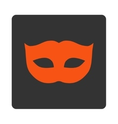 Privacy mask flat orange and gray colors rounded vector