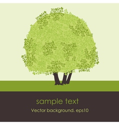 card with stylized tree vector image