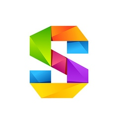 S letter one line colorful logo design template vector