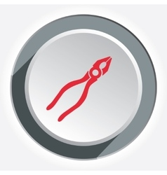 Pliers tool icon repair fix symbol red flat vector