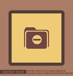Folder for documents vector