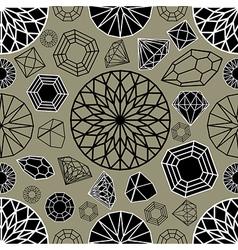 diamonds seamless 03 vector image