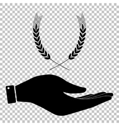 Wheat sign flat style icon vector