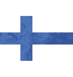 True proportions finland flag with texture vector