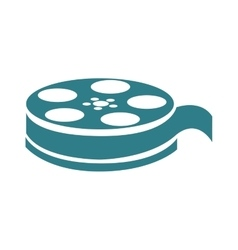 Film reel  over white vector