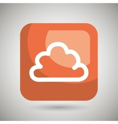 Cloud square button isolated icon design vector