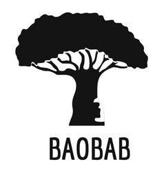 baobab tree icon simple black style vector image