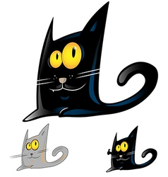 black cat cartoon vector image