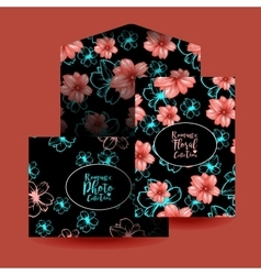 Cards design and envelope template or mockup vector image vector image