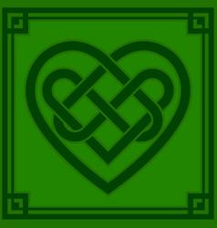 Celtic knot heart vector