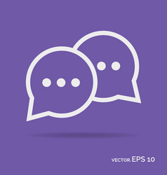 Chat online outline icon white color vector