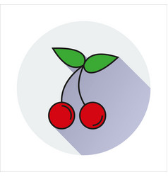 cherry simple icon on white background vector image