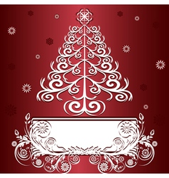 christmas tree graphic vector image