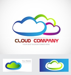 Cloud storage logo vector