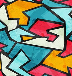 colored graffiti grunge seamless pattern vector image