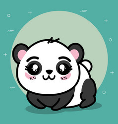 Cute panda animal cartoon vector