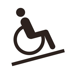 Disabled sign - Facilities for disabled vector image vector image