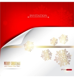 elegant winter background with snowflakes and plac vector image vector image