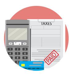 Financial taxation paid vector
