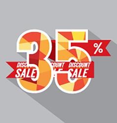 Flat Design Discount 35 Percent Off vector image