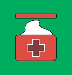 Flat icon design collection medical napkins vector