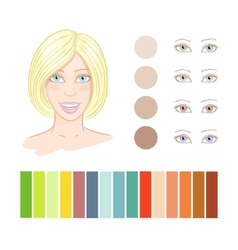 Girl summer color type vector image