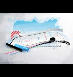 grunge hockey banner vector image vector image