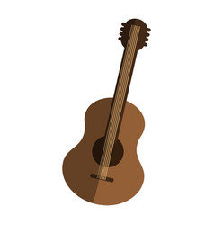 guitar instrument icon vector image vector image
