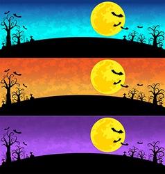 Halloween background set vector
