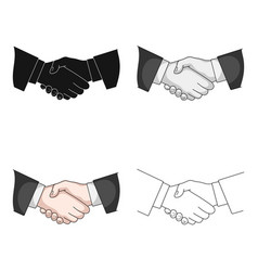 handshakerealtor single icon in cartoon style vector image