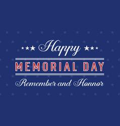 Happy memorial day vector